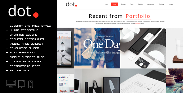 DOT – Creative One Page Multi-Purpose Theme