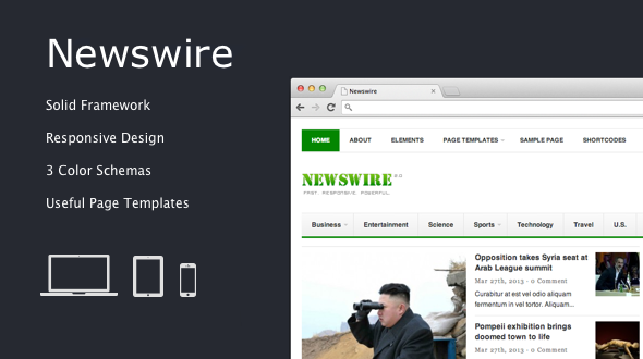 Newswire – Responsive WordPress Magazine Theme
