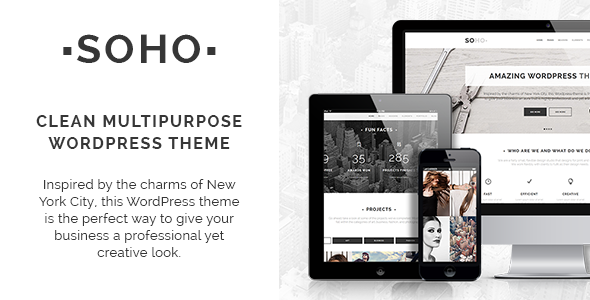 Soho – Clean Multi-Purpose WordPress Theme