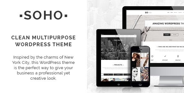 Soho – Clean Multi-Purpose WordPress Theme