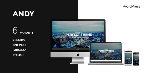 ANDY – WordPress One-Page Simple Parallax Theme
