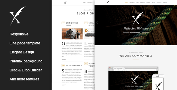 CMDX – Elegant Onepage WordPress Theme