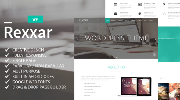 Rexxar – Responsive Multipurpose WordPress Theme