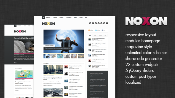 Noxon – Modular and Responsive Magazine Theme