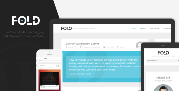 Fold – Clean & Flat WordPress Blog Theme