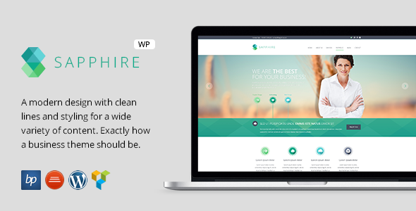 Sapphire – Responsive Business WordPress Theme