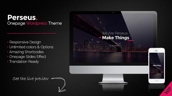 Perseus – Onepage Scrolling WordPress Theme