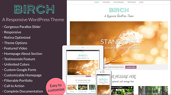Birch » A Responsive WordPress Theme