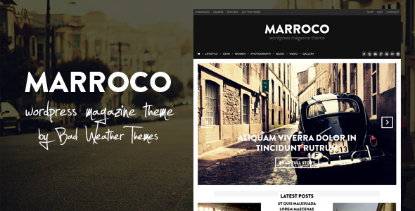 Marroco – WordPress Magazine Theme