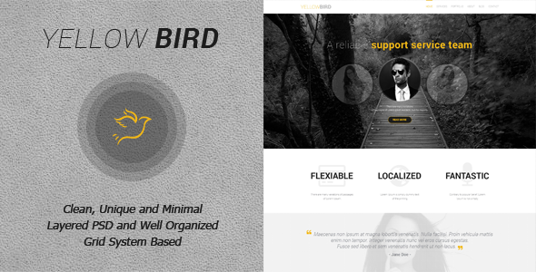 Yellow Bird – multipurpose onepage theme