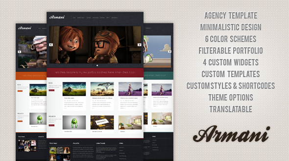 Armani WordPress Theme