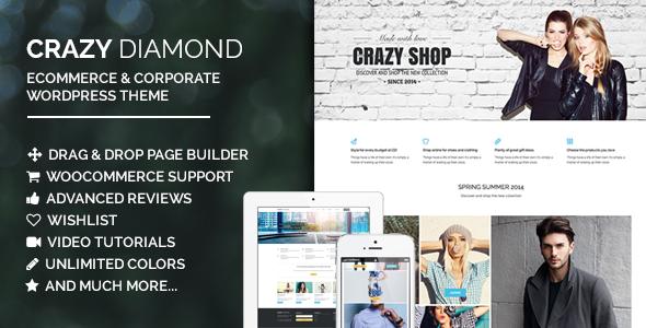 Crazy Diamond – Ecommerce & Corporate Theme