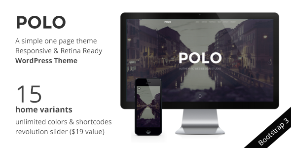 POLO – WordPress One Page Responsive Portfolio