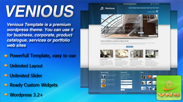 Venious Business Corporate Premium WordPress Theme
