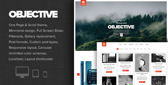 Objective – Responsive Portfolio Photography Theme