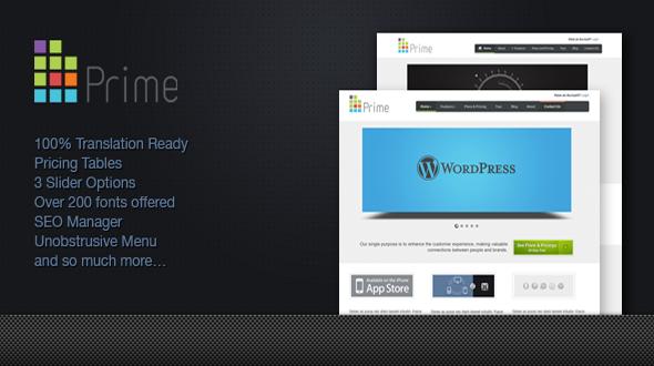 Prime – an Elegant WordPress Theme