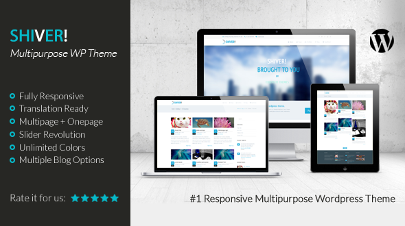 Shiver! – Responsive Multipurpose WordPress Theme