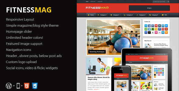 FitnessMag – Responsive Blogging WordPress Theme