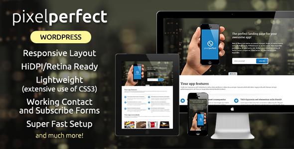 PixelPerfect – Responsive Landing Page WP Theme