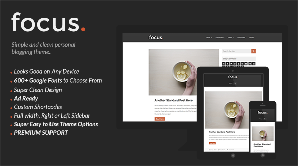 Focus – Simple and Clean Personal Blogging Theme