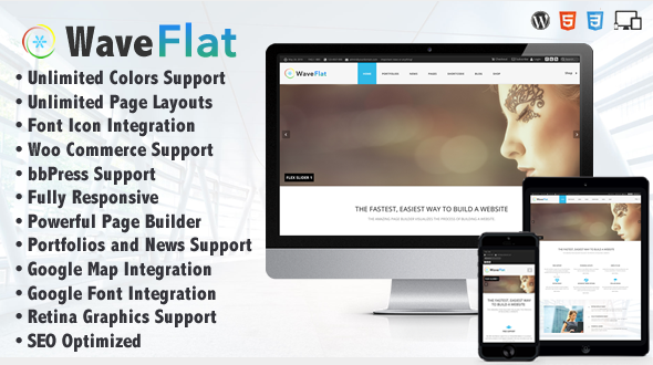 Wave Flat – Responsive Multipurpose Creative Theme