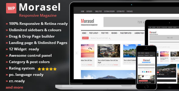 Morasel – Responsive News and Magazine WordPress