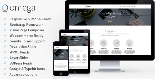 Omega – Multi-Purpose Responsive Bootstrap Theme