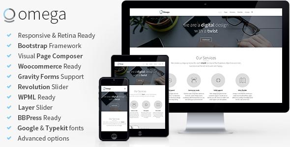 Omega – Multi-Purpose Responsive Bootstrap Theme