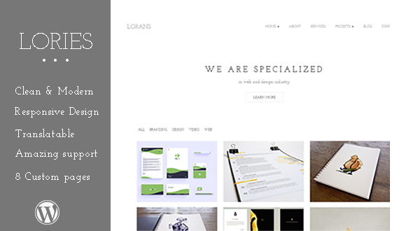 Lories – WordPress Theme