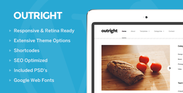 Outright: WordPress Responsive Blog Theme