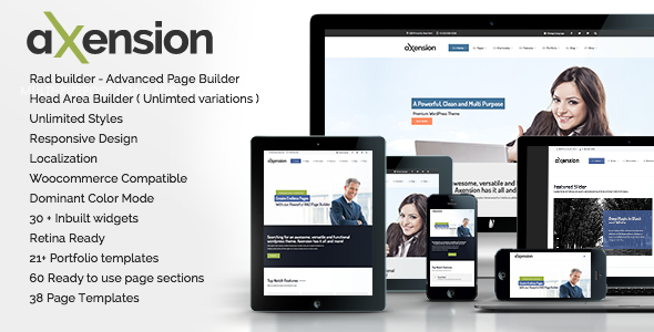 Axension – Powerful Multi-Purpose WordPress Theme