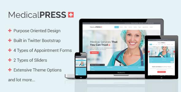 MedicalPress – Health and Medical WordPress Theme