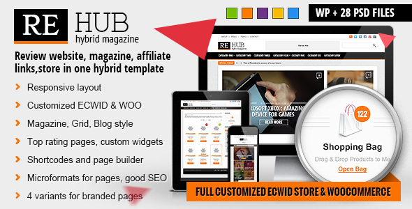 REHub – Hybrid News, Shop, Review, Affiliate Theme