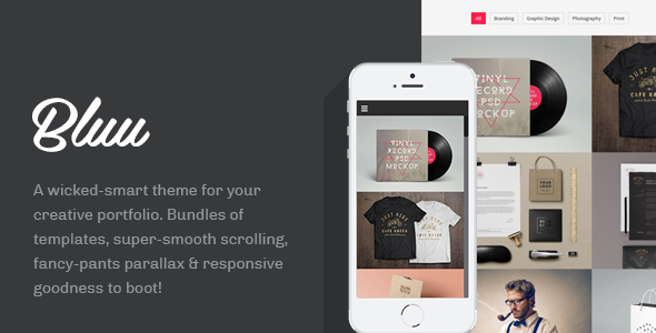 Bluu: Portfolio WordPress Theme
