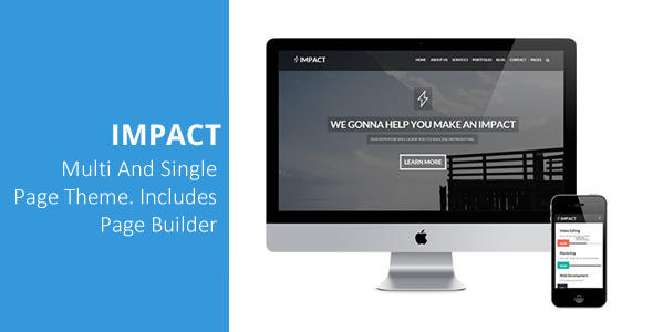 Impact – Multipurpose Single/Multi Page Theme