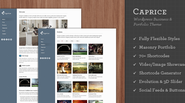 Caprice – WordPress Business & Portfolio Theme