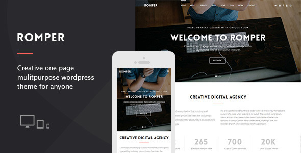 Romper – Creative OnePage Multipurpose Theme