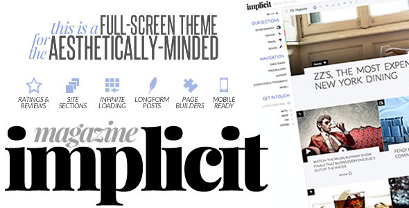 Implicit – Full-Screen Blazing-Fast Magazine Theme