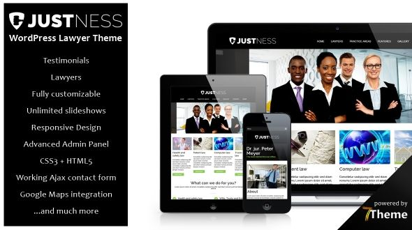 Justness – responsive WordPress Lawyer Theme