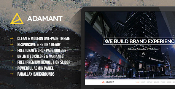 Adamant – Parallax One-Page WordPress Theme
