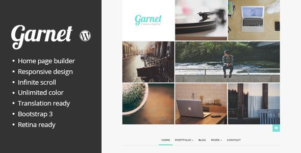 Garnet Creative Portfolio WordPress Theme