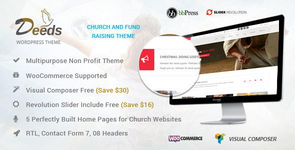 Deeds- Best Nonprofit Church Organization WP Theme