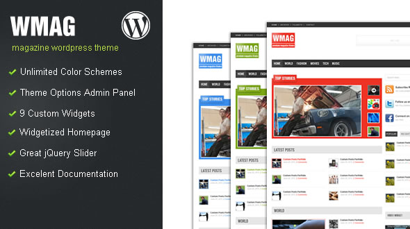 WMag WordPress Magazine Theme