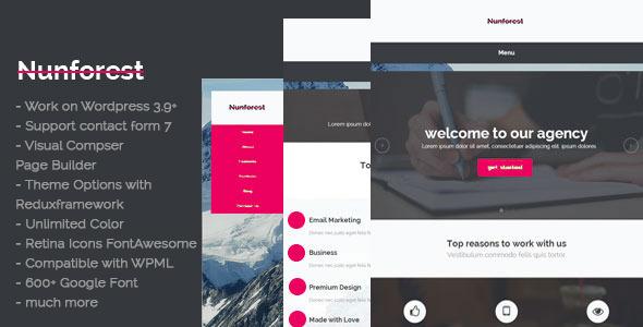 Nunforest – Multipurpose WP theme