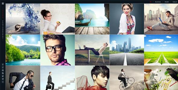 Azura Responsive Photography Portfolio WP theme