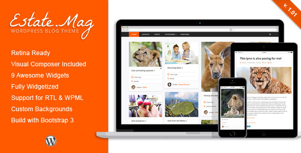 EstateMag – Responsive WordPress Blog Theme