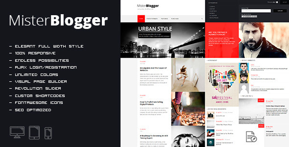 MisterBlogger – Blog/Magazine WordPress Theme
