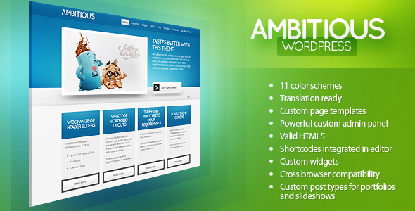 Ambitious – Business & Portfolio WordPress Theme