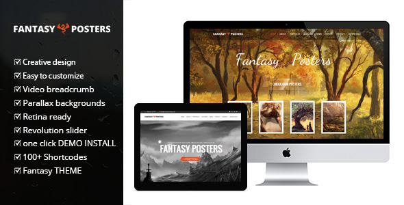 Fantasy Posters – Ultimate Gaming WordPress Theme