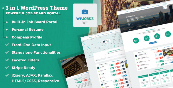 WPJobus – Job Board and Resumes WordPress Theme